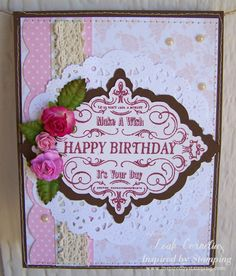 Inspired by Stamping Vintage Happy Birthday stamp set, birthday card