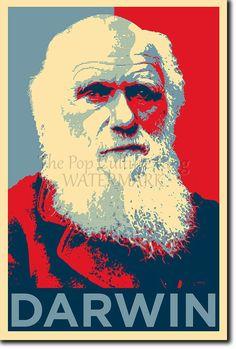 Charles Darwin Poster - Unique Photo Art Print Gift
