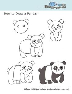 49 trendy ideas for drawing for kids panda Panda Drawing, Drawing For Kids, Art For Kids, Unicorn Drawing, Drawing Lessons, Drawing Techniques, Art Lessons, Drawing Tips, Drawing Sketches