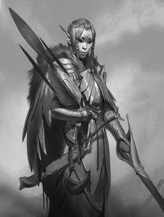 elf female BW portrait, Even Amundsen