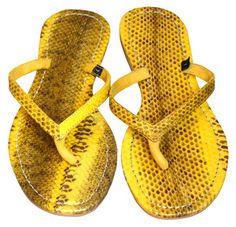 Mystique yellow sandals