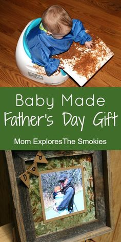 This quick and easy DIY Father's Day gift from baby, allows baby to be an active participant.