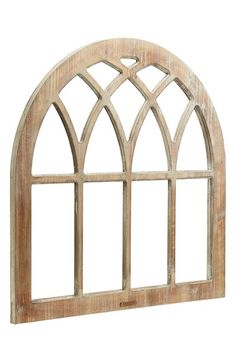 Rustic Window Frame from Magnolia Homes - this would be perfect with a wreath hung on it!