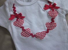 Valentine's Day necklace onesie or tee by TheModishLife on Etsy
