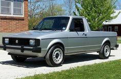 VW Rabbit truck. Just bought one like this today. So thats what itll look like if i stay with the same paint scheme. More pics to come.