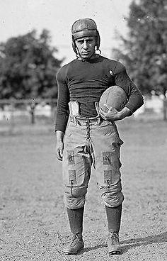 "1928 College Fottball Athlete, antique photo, 19""x12"", vintage football gear"