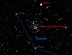Beehive+Cluster | June 20th just before midnight: Venus in the Beehive Cluster