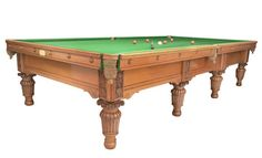 A Carved Oak Billiard, Snooker, Pool Table by George Wright, circa 1885