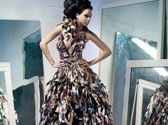Beautiful Dresses Made From Trash