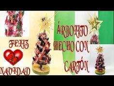 ÁRBOLITO HECHO CON CARTÓN PARA NAVIDAD, UNA MANUALIDAD DIY, PARA HACERLA - YouTube