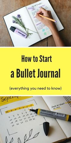 Learn everything you need to know about starting a bullet journal! You'll learn how to create monthly, weekly, and daily layouts and other bullet journal spreads! You'll even learn about bullet journal supplies and get a few ideas for your first bujo! Bullet Journal August, Bullet Journal Inspo, Bullet Journal Books To Read, Bullet Journal Bucket List, Bullet Journal Monthly Log, Bullet Journal Wishlist, Bullet Journal Banners, Bullet Journal First Page, Bullet Journal Doodles