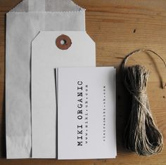 Self promotion idea. Love the use of simple supplies in packaging ~ twine, quality creme paper, & vellum