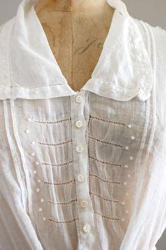 edwardian cotton blouse by dear golden