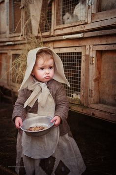 Feeding time on the farm.