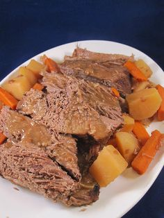 The Apron Gal: Pot Roast with Carrots and Potatoes in the Crock Pot