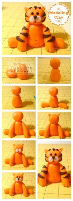 DIY Modeling Clay Kitty