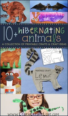 Hibernating Animals Round-Up FREEBIE crafts