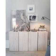 four cabinets, neutral decor