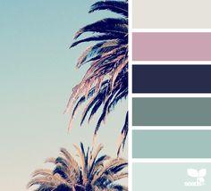 mental vacation hues color palette from Design Seeds Dorm Color Schemes, Dorm Room Colors, Color Schemes Design, Bedroom Colors, Color Combos, Design Seeds, Pantone, Colour Pallette, Color Theory