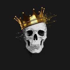 Резултат с изображение за golden skull graphic t-shirt