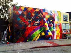New Street Art in Los Angeles by Eduardo Kobra