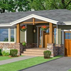 Possible Front Porch Design Plans   Outside porches  patios and yard     adding front porch to ranch house   Google Search