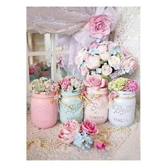 DIY Tips And Tricks for Painting Shabby Chic Mason Jars ! Idee zum Selbermachen…, DIY Suggestions And Methods for Portray Shabby Stylish Mason Jars ! Idee zum Selbermachen… DIY Suggestions And Methods for Portray Shabby Stylish Ma. Baños Shabby Chic, Cocina Shabby Chic, Estilo Shabby Chic, Shabby Chic Bedrooms, Shabby Chic Furniture, Shabby Cottage, Cottage Style, Shabby Chic Crafts, Cottage Design