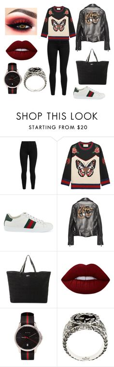 """""""gucci"""" by vega-skouboe-lindberg on Polyvore featuring Levi's, Gucci and Lime Crime"""