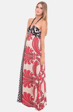Olian - Maternity Halter Maxi Dress