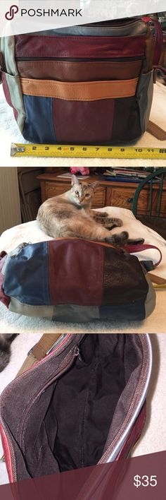 Spotted while shopping on Poshmark: Leather Patchwork Purse Multi Colored! #poshmark #fashion #shopping #style #Handbags