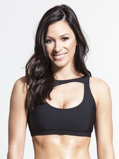 Ellipse Medium Support Sport Bra in Black by Solow from Carbon38