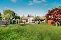 4 bedroom detached bungalow for sale in Parkgate Road, Woodbank, CHESTER - Rightmove Timber Gates, Timber Door, Specimen Trees, Paved Patio, Bungalows For Sale, Built In Furniture, Electric Fires, Double Glazed Window, Double Garage