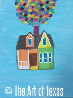 Adventure is Out There (Up) painting | The Art of Texas Kids | Midland, Texas