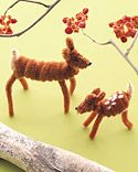 Pipe cleaner animals.