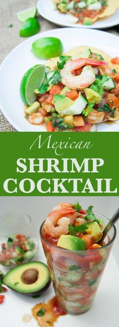 Mexican Recipes Mexican Shrimp Cocktail - a Sloppy Chef (Paleo Soup) Vegetarian Mexican Recipes, Mexican Dessert Recipes, Mexican Drinks, Mexican Dishes, Cold Appetizers, Appetizer Recipes, Dinner Recipes, Shrimp Recipes, Tostada Recipes