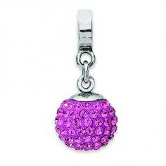 Sterling Silver Reflections Oct Swarovski Elements Ball Dangle Bead