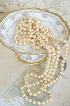 Pearls & China Compote
