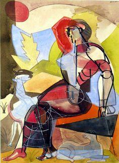 Romare Bearden, Shepherdess, 1946