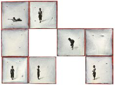 MENCIÓN  Autor: Mario Zabaleta Gastelbondo // Colombia // Casi en serio, el otro patio, Políptico //  Acrílico/tela