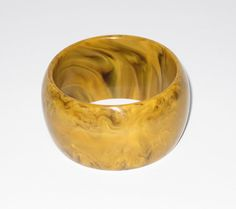 BAKELITE Bracelet Bangle Vintage butterscotch by IrisBleuBoutique