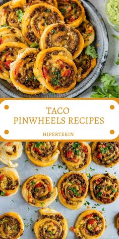 TACO PINWHEELS RECIPES Fluffy, flaky puff pastry dough filled with saucy taco meat, tomatoes and lots, and lots of gooey cheese! This appetizer is a cinch to make and always a crowd pleaser. Taco Pinwheels, Pinwheel Appetizers, Pinwheel Recipes, Appetizers For Party, Mexican Appetizers, Pinwheel Sandwiches, Pinwheel Wraps, Mexican Pinwheels, Taco Appetizers