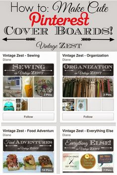 How to Make Cute Pinterest Board Covers on Diane's Vintage Zest!