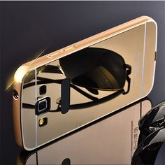 For Samsung Galaxy Grand 2 G7102 G7106 G7108 G7109 Case Luxury electroplating mirror design Aluminum Frame + Hard PC case cover