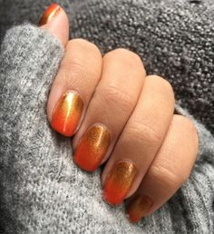 This weeks autumn nails! Been uninspired for a while but autumn colours brought me back 🍁 Cute Nail Colors, Fall Nail Colors, Nail Polish Colors, Cute Nails, Autumn Colours, Nail Colour, Elegant Nail Designs, Elegant Nails, Fall Nail Designs