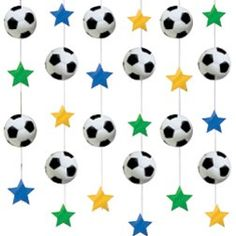 Sports Party Football String Decoration for sale online Kids Football Parties, Football Party Supplies, Sports Themed Birthday Party, Soccer Party, Sports Theme Classroom, Sport Craft, Ceiling Decor, Ballon, Holidays And Events