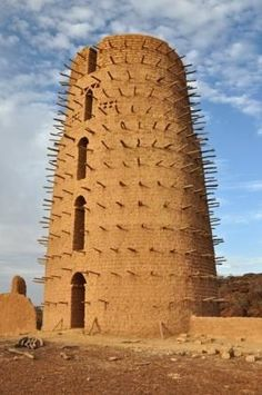 Africa | Part of a mud mosque in Bani. Not as grand as the famous one in Mali, but built on the same lines. | © Rhoda1 on Wanderlust
