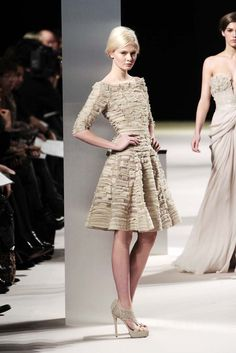 Gorgeousness! love the shoes as much as the dress :)  (Elie Saab Haute Couture Spring/Summer 2011)