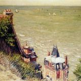 The Pink villa at Trouville by Gustave Caillebotte