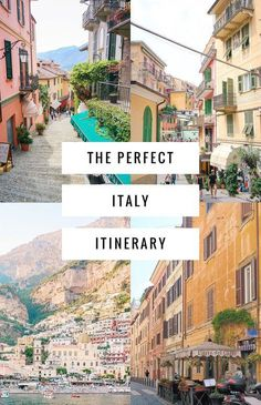 The perfect 3 week Italy itinerary including the Amalfi Coast, Cinque Terre, Florence, Rome and more! ********************************************** Travel Destinations| Travel Destinations European| Europe| Europe Travel| Travel Destinations European Italy
