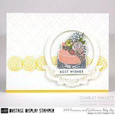Cake Soiree stamp set & embellishments - Charlet Mallett, Stampin' Up! Occasions Catalog 2018